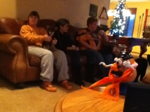 Watching the game with some of the Gang!