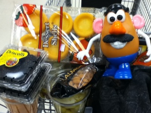 Then there was a quick stop at Kroger to get some fruit for our famous Rainbow Kabobs!